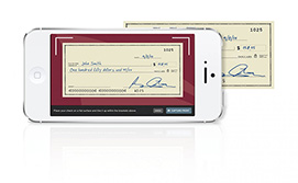 example of a check deposit on a smartphone